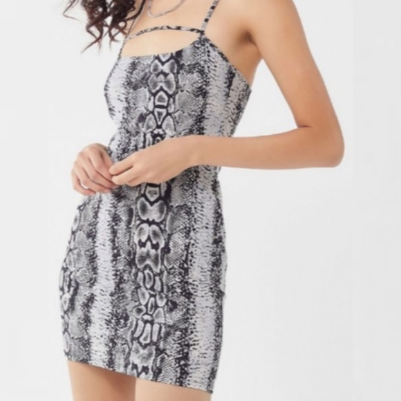 Urban Outfitters Snake Skin Print Bodycon Dress S